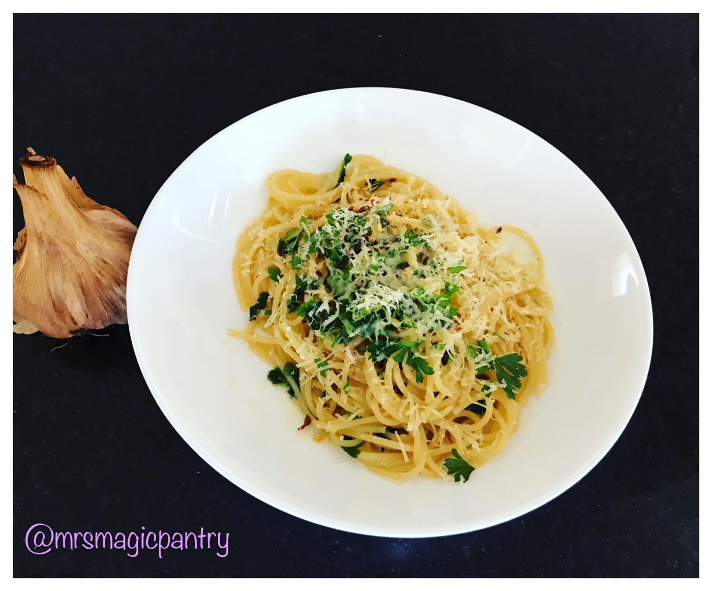 Smoked Garlic Spaghetti Aglio e Olio